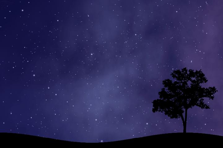 AviUtlで作る星空のサンプル