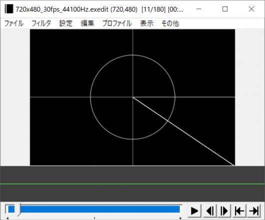 中央を支点に回転する線を配置