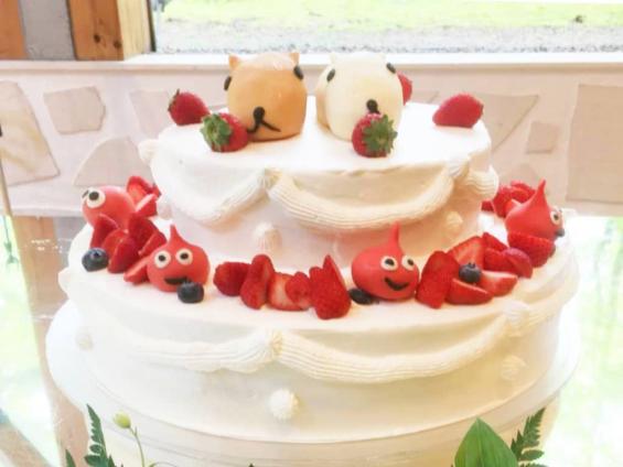 カピバラさんのウェディングケーキ:完成品