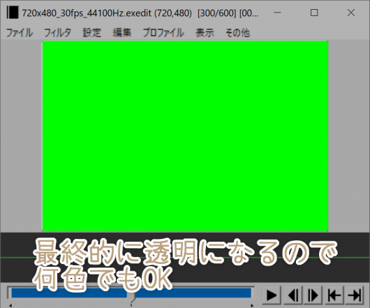 背景を緑一色にした例
